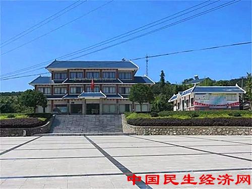 湖北宜都南桥村 美丽乡村的 丘陵突破图片